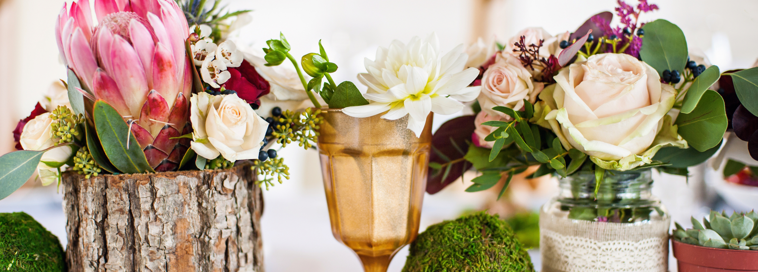 Beautiful elegant table for wedding party