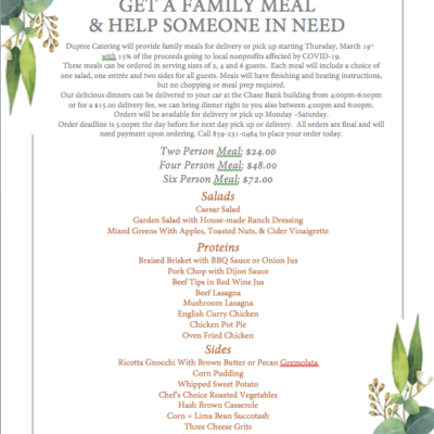 Get a Family Meal & Help Someone in Need