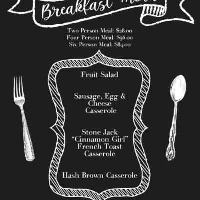 """Chalkboard """"Breakfast"""" Special"""