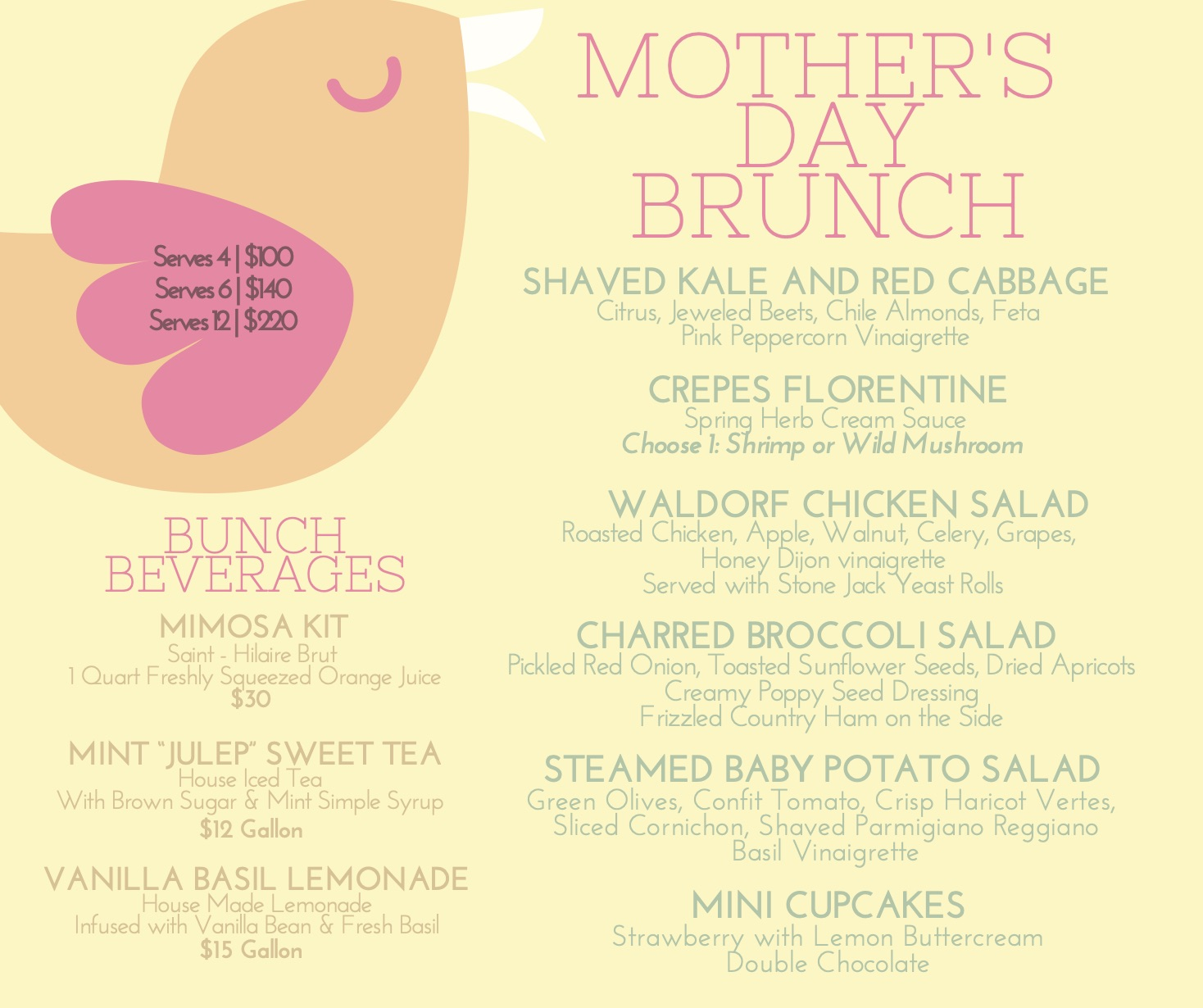 Final Mother's Day Brunch Flyer Pg 2